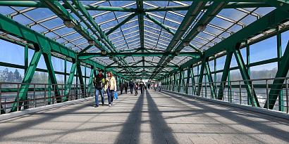 Пешеходный мост появится в районе Аэропорт